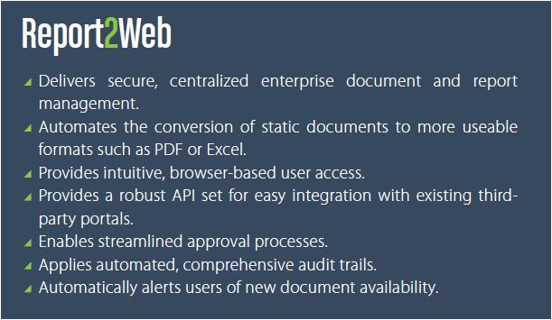 report2web-features
